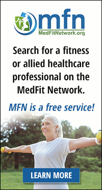 Find fitness, wellness, and allided healthcare professionals in your area on the Medical Fitness Network.
