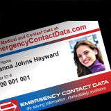 The Emergency Contact Data Photo ID Card and ID Tags enable first responders and medical emergency staff to gain access to member's medical, health, and contact information in case of emergency.